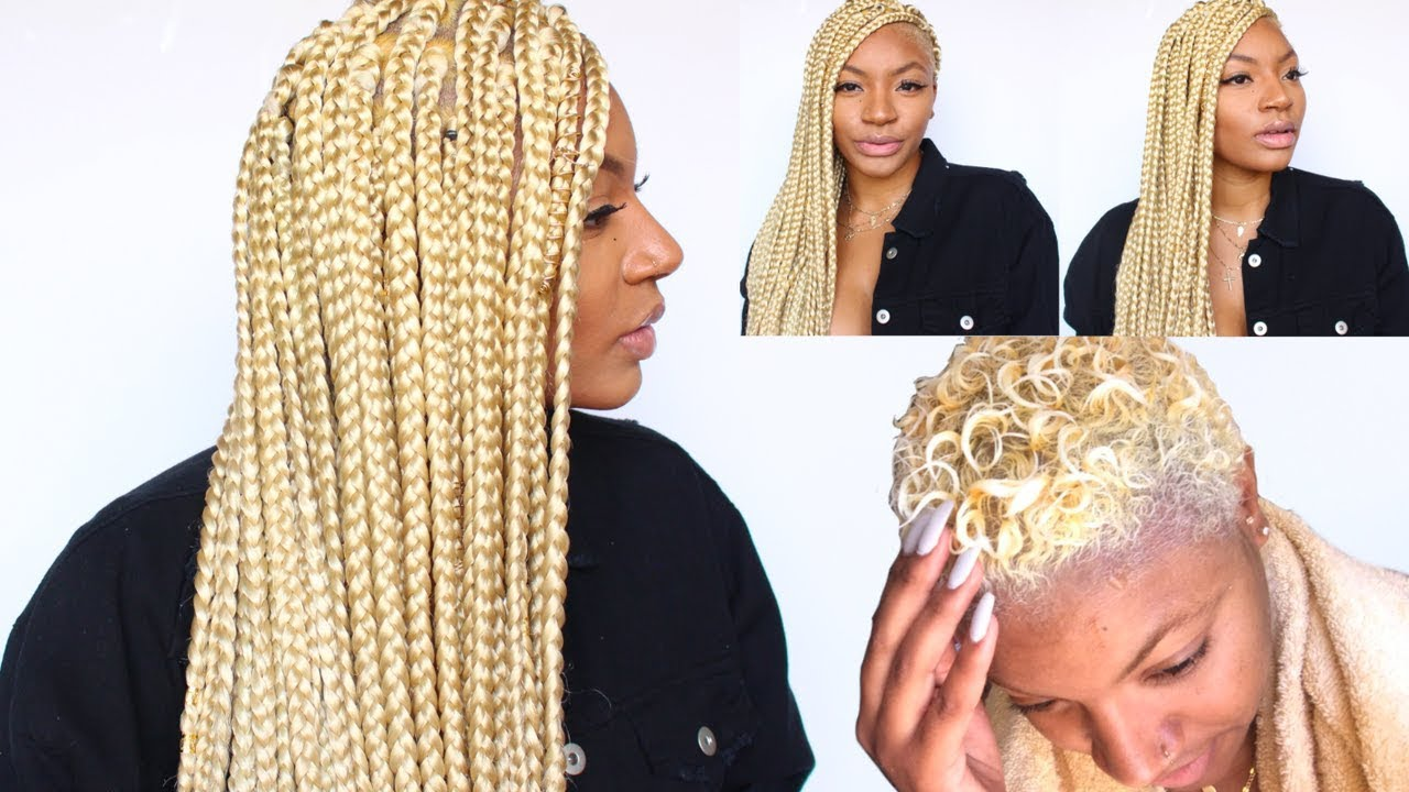 Doing Protective Box Braids On Short Twa Hair Youtube