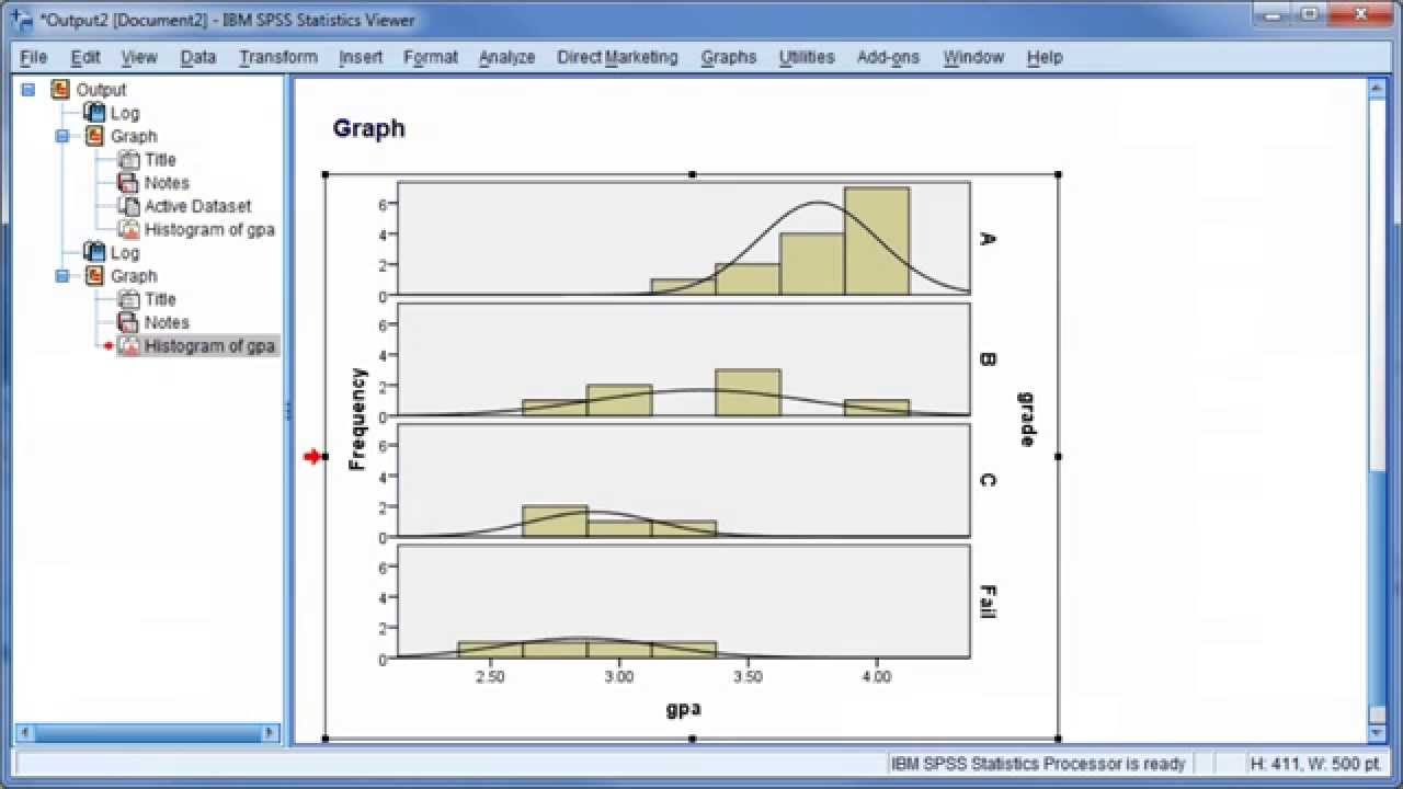 Technology Management Image: IBM SPSS Statistics 20: Histograms