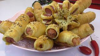 Сосиски в Тесте☆В духовке,на сковороде