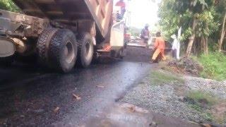 Trải thảm bê tông nhựa nóng - CTCT giao thông