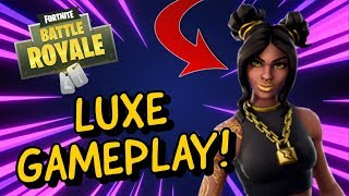 LUXE Skin Gameplay In Fortnite Battle Royale