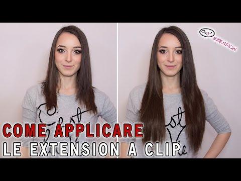 Come Applicare le Extension a Clip - OxY Extension Capelli Veri