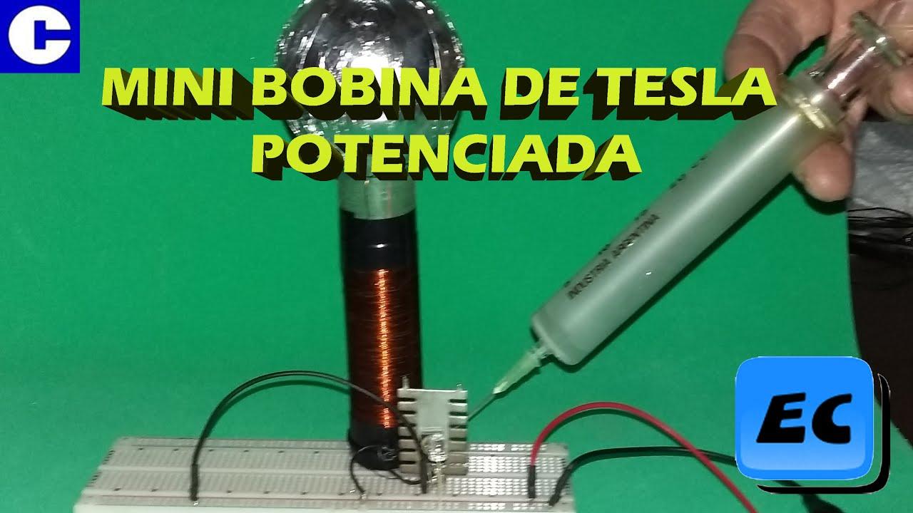 Circuito Bobina De Tesla : Mini bobina de tesla potenciada circuitos fáciles youtube