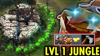 100% He jungle Techies on Ancient Camps Epic Sh*t Level 1 Techies Jungle Gold Hack Mind Blowing