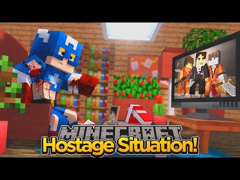 Minecraft Adventure - HOSTAGE SITUATION, CAPTAIN AMERICA IS TO HURT TO HELP!!!