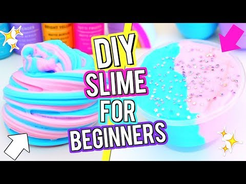 Thumbnail: How To Make The BEST FLUFFY SLIME! DIY Cotton Candy Slime! Slime Tutorial For Beginners!