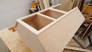 Making A Corner Cabinet / Kitchen Cabinet