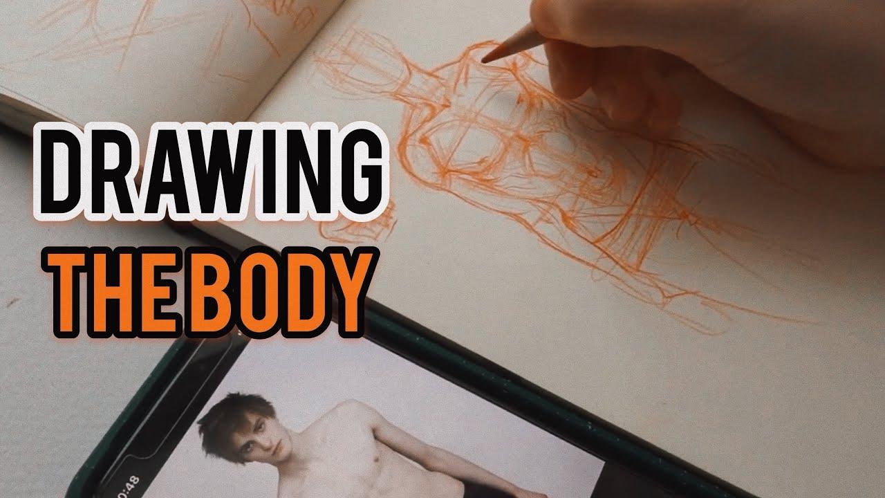 Не ТУТОРИАЛ Учусь рисовать мужские телеса. Уровень: ничерта не знаю и не умею.