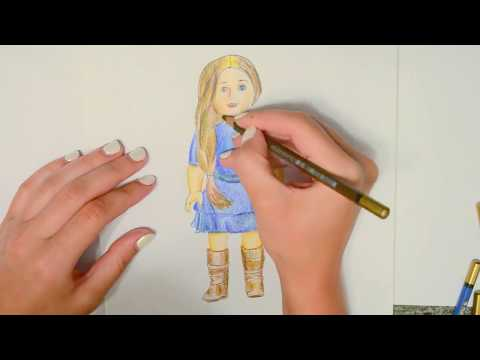 How To Draw American Girl. American Girl Dolls. Baby Doll