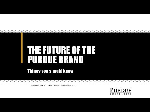 Purdue Brand Direction Presentation