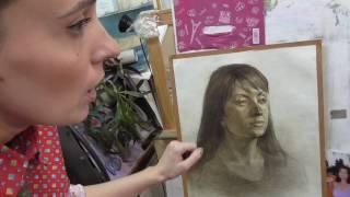 Екатерина Крюкова. Как рисовать портрет. Фрагмент урока.