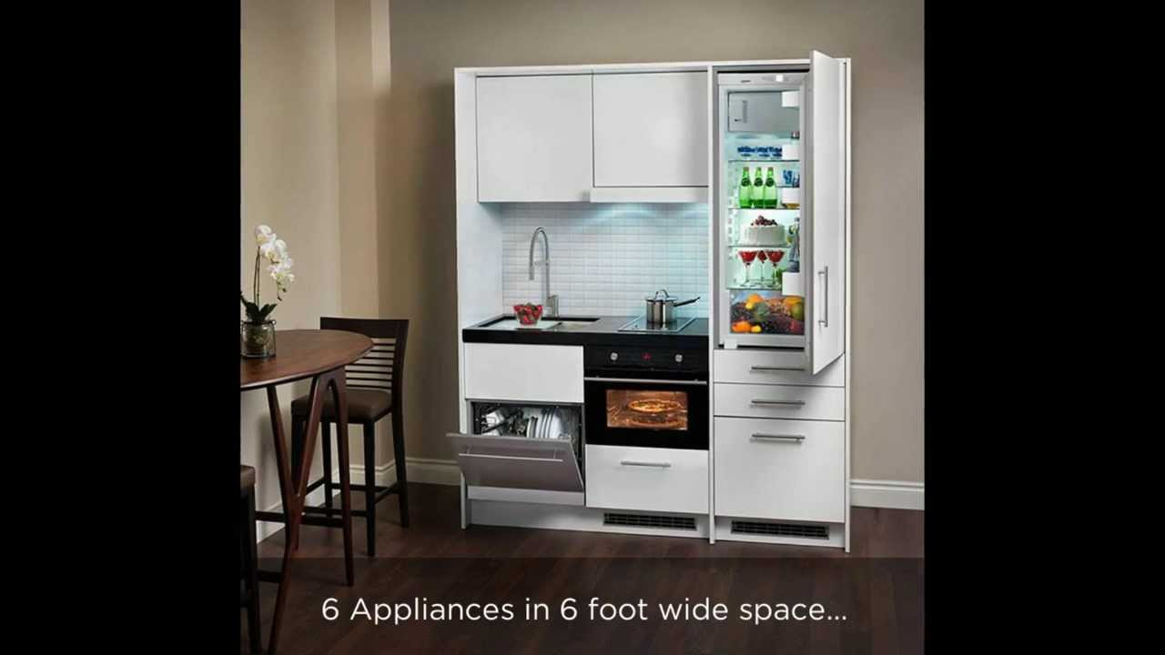 Beau Compact Kitchen   Everything Included 6 Ft Space   YouTube