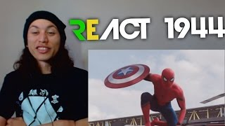 React 1944 Homem-aranha Vs. Batman  Duelo De Tit�s Part. Tauz 7 Minutoz