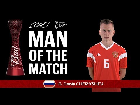 Denis CHERYSHEV (Russia) - Man of the Match - MATCH 1