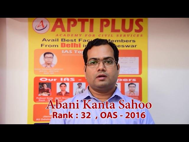 Abani Kanta Sahoo,Rank-32 Odisha Civil Service Examination
