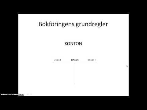 Bokföring del 2  affärshändelser, konton, debet och kredit