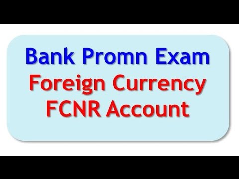 Bank Promn Exam   (Foreign Currency Deposit Accounts)