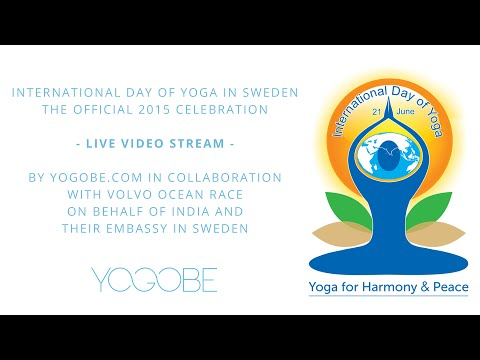 International day of Yoga 2015, Sweden. By Yogobe - Official celebration