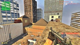 CS:Source - Zombie Survival Mod gameplay on Downtown map - PlagueFest