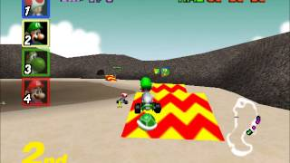 Mario Kart 64 - Racing the MUSHROOM CUP Extra (Nigcatt) - User video