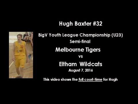 Full Game Tape, Hugh Baxter(Class of 2017), BigV(U23) Melb Tigers v Eltham Semi-final, Aug '16