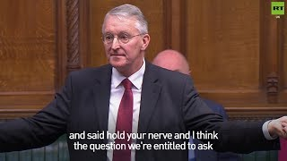 Hilary Benn responds to Theresa May's 'hold your nerve' comment