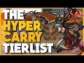 SMITE - The Hyper Carry Tierlist!