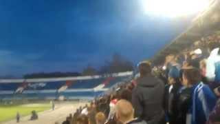 факел воронеж динамо брянск 15 04 2014 драка фанатов на стадионе