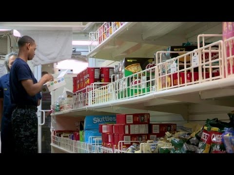 Grocery Shopping on Aircraft Carrier - USS George H.W. Bush'