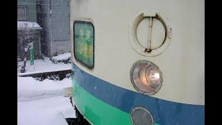 【豪雪の中を走行】JR東日本 485系 快速くびき野 北新井→新潟間走行 側面展望 M車
