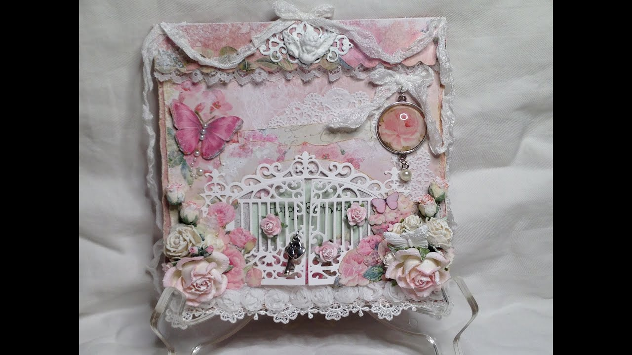 Shabby chic crafts to make - Shabby Chic Gate Cards Lemon Craft House Of Roses And Craft And You Design Youtube