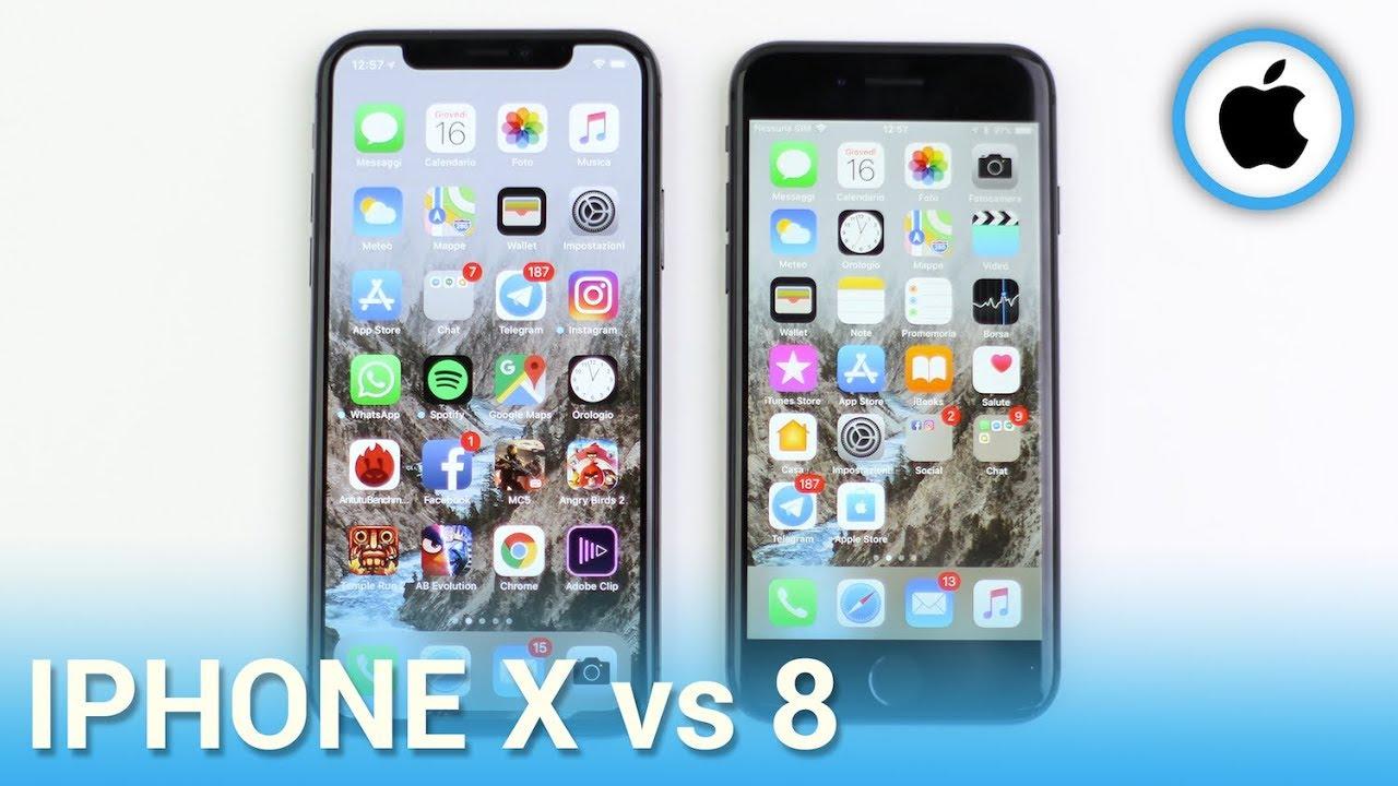 iPhone X vs iPhone 8, confronto in italiano - YouTube
