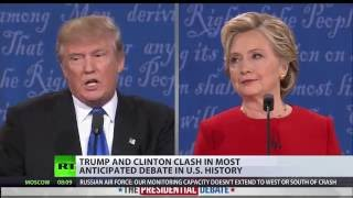 Who's fit to police the world? Trump and Clinton clash in first 2016 presidential debate