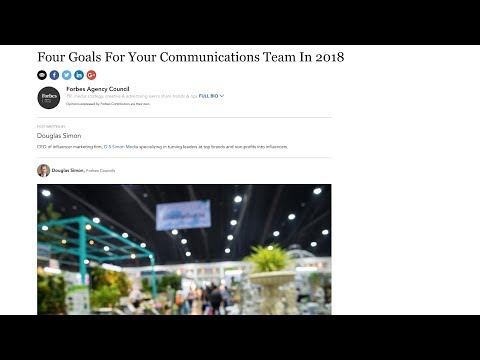 Top Goals for PR People in 2018 from Forbes com – D S Simon