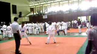 Martial art karate tournament under 15 year