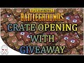 53 WANDERER CRATES & 12 SURVIVOR CRATE OPENING! WITH GIVEAWAY - PlayerUnknown's Battlegrounds (PUBG)
