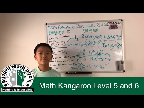 Math Kangaroo 2019 Level 5 And 6 Presented By Jerry Yang