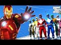 POWER RANGERS VS IRONMAN - GTA 5 Power Rangers Mod
