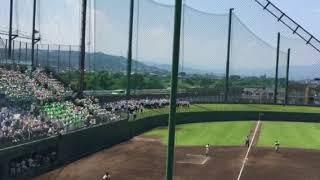 2018夏 高校野球群馬大会 3回戦 農大二VS藤岡 オリジナル応援曲 のビクトリーファンファーレです スマホ撮影のため画像小さいです.
