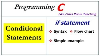 if statement in c programming