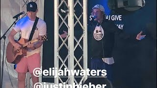 Justin Bieber singing Reckless Love & Tremble at Coachella Churchome event - April 15, 2018