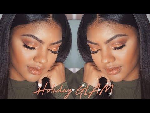 Holiday GLAM Makeup Tutorial   Jazzie Jae T