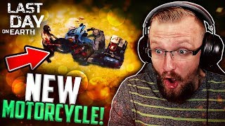 NEW VEHICLE TO RIDE! (Crushing Zombies Motorcycle) - Last Day on Earth: Survival