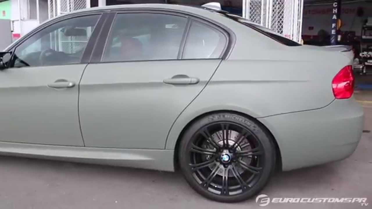 Camo Green E90 M3 Plasti Dip