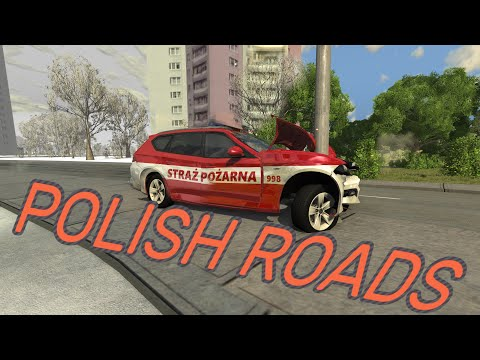 CRASHING On Polish Roads - BeamNG.drive