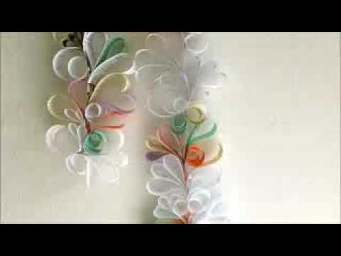 How to make Paper swirls design