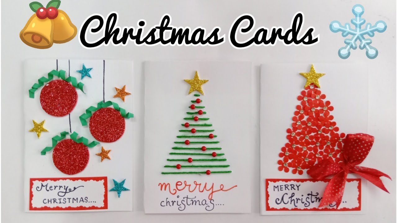 Easy Christmas Cards To Make With Children.Christmas Greeting Cards 3 Christmas Cards For Kids Handmade Christmas Card Making Ideas