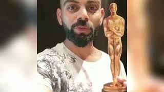 Virat kohli received best actor award for trailer the movie