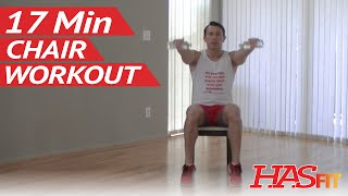 17 Min Chair Exercise For Seniors & Beginners - Hasfit Senior Exercises For The Elderly Workout