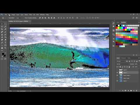 Alternative method to do color separations for screen printing - 2 color vintage surfer style